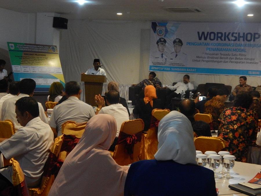 Workshop Penguatan Koordinasi dan Kerjasama Penanaman Modal